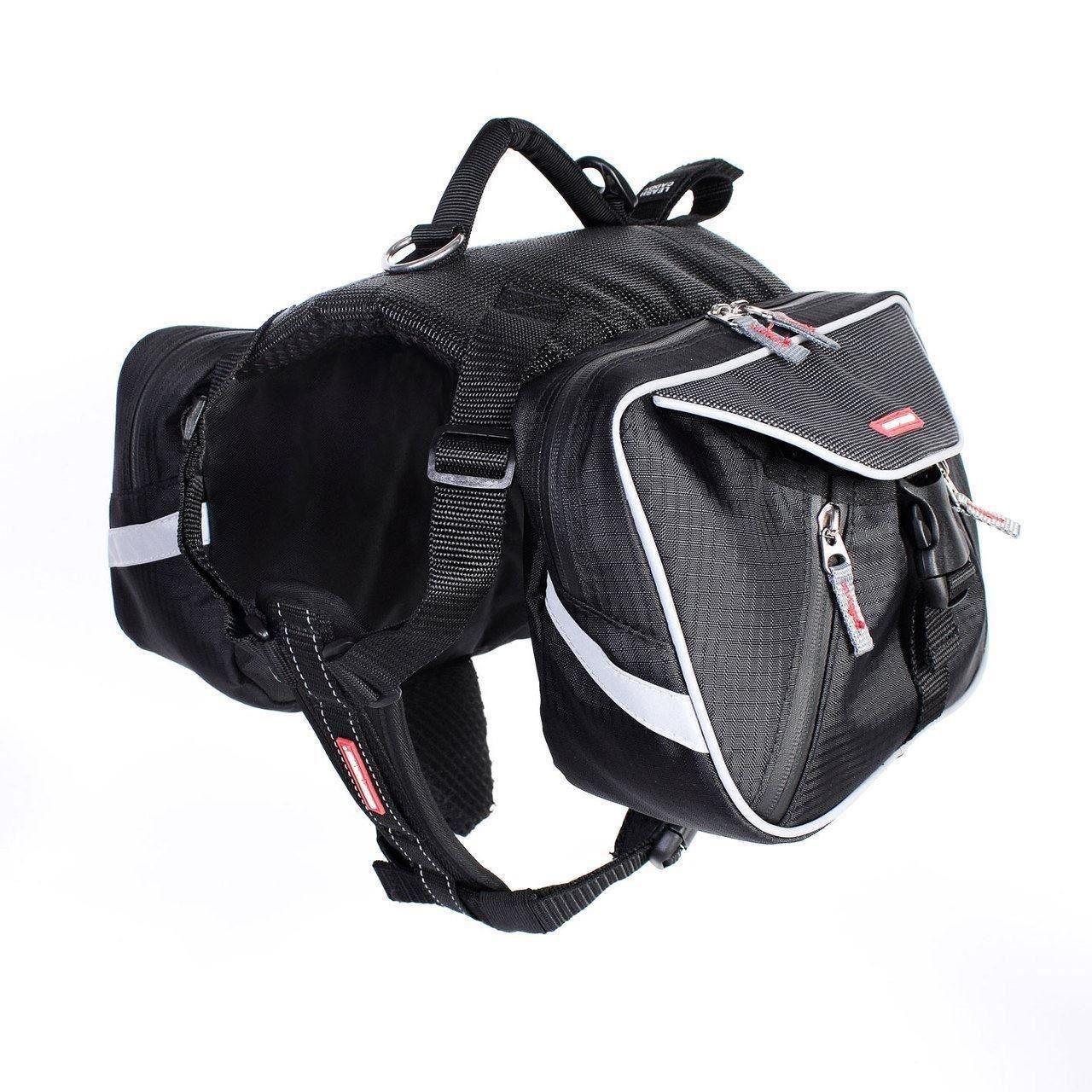 Large EzyDog High Quality Summit Dog Backpack Saddle Bags Outdoor Walking Travel Large
