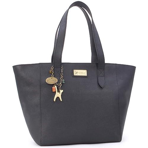 b846b54ea403 Catwalk Collection Handbags - Women's Large Saffiano Leather Tote/Shopper  Shoulder Bag - Paloma -