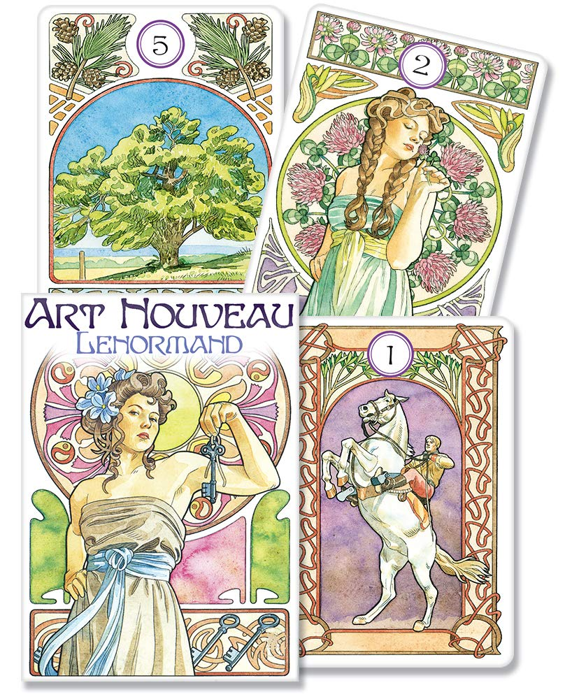 Art Nouveau Lenormand Oracle: Amazon.es: Lunaea Weatherstone ...