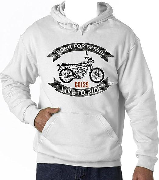 TEESANDENGINES Mens Honda CG 125 White Sweatshirt