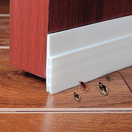 Under Door Draught Excluder Self Adhesive Draft Excluder Tape for Doors Soundproof Rubber Door Bottom Seal & Under Door Draught Excluder Self Adhesive Draft Excluder Tape for ...