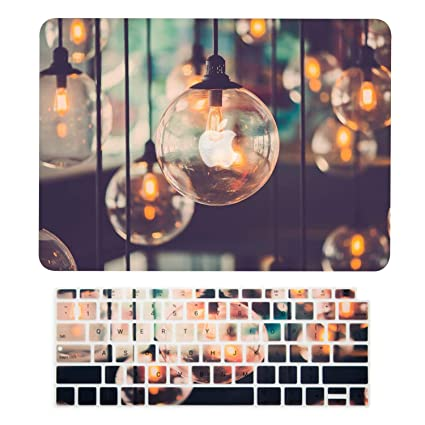 TOP CASE - 2 in 1 Rubberized Hard Case + Keyboard Cover Compatible with 2018 Release MacBook Air 13 Inch with Retina Display fits Touch ID Model: ...