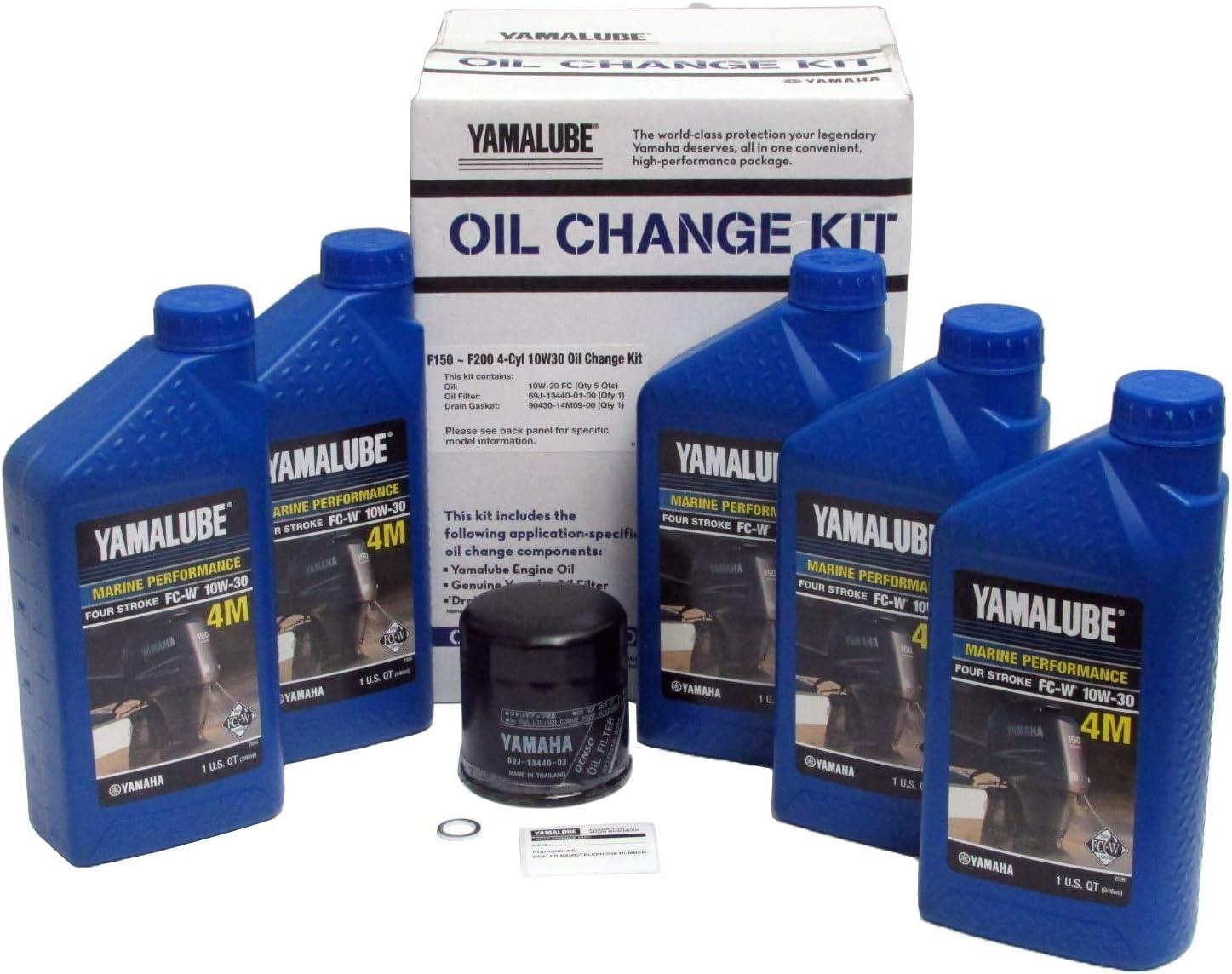 Yamahalube OEM LUB-MRNMR-KT-10 Yamaha Outboard F150 10W30 Oil Change KIT