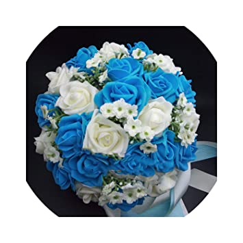 Amazon Com Handmade Artificial Wedding Bouquet Flower Bridal