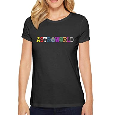 bff21735 Image Unavailable. Image not available for. Color: Short Sleeve Tees O-Neck  Travis-Scott-Astroworld-Logo- T-