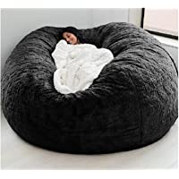 AQHXLS 7-Foot Giant Fur Bean Bag Chair, Large Round Soft and Fluffy Artificial Fur Bean Bag for Living Room Furniture…
