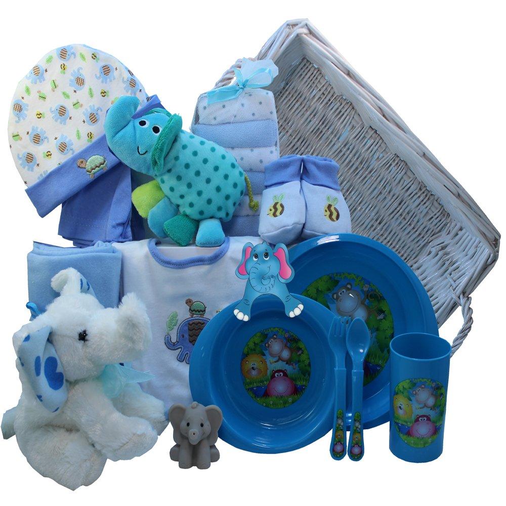 Amazon eli the elephant baby gift basket blue boys baby negle Images