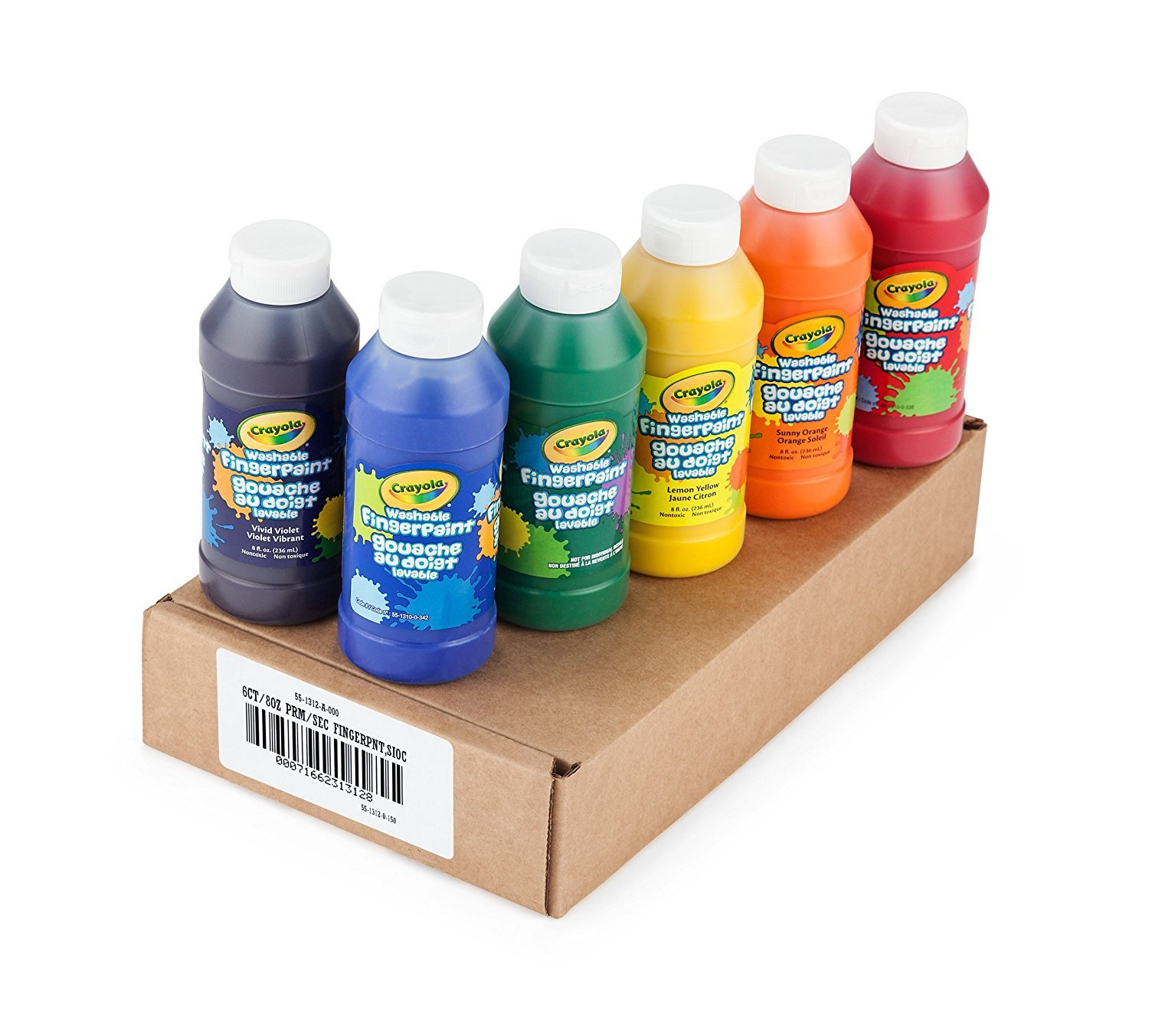 Crayola Washable FingerPaints, 6 Count 8 oz. by Crayola (Image #2)