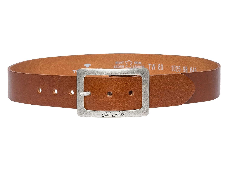 TOM TAILOR Ledergürtel Gürtel  Damen  Vollrindleder   40 mm Blau TW1025