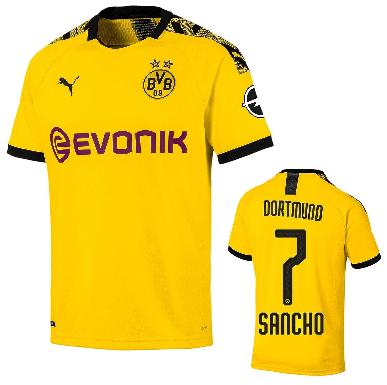 Soccer Jersey Borussia Dortmund Maglia Sancho Home 2019-20 Sport e ...