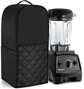 Luxja Blender Cover Compatible with Vitamix 64 oz. Low-Profile Blender, Black(quilted)