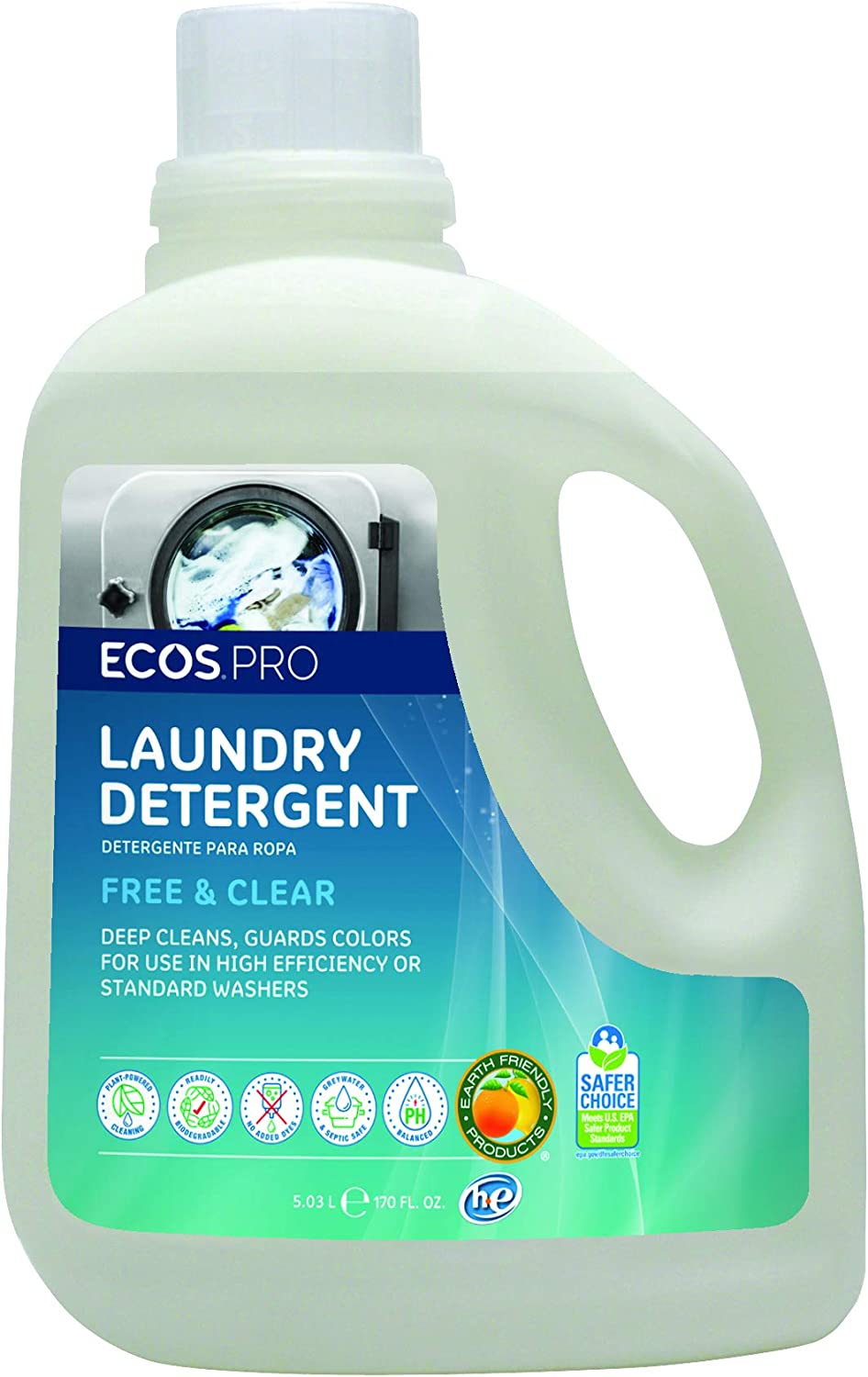 ECOS PRO PL9371/02 ECOS Liquid Laundry Detergent, Free and Clear (Pack of 2)
