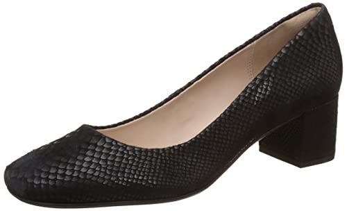 Clarks Chinaberry Gem, Women's Closed-Toe Pumps, Black (Black Snake),