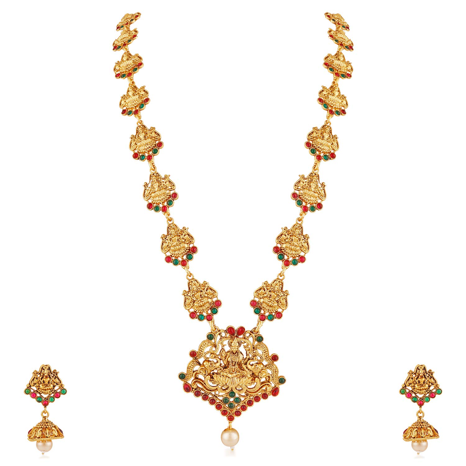 Buy MEENAZ Temple Jewellery Traditional One Gram Pearl Gold