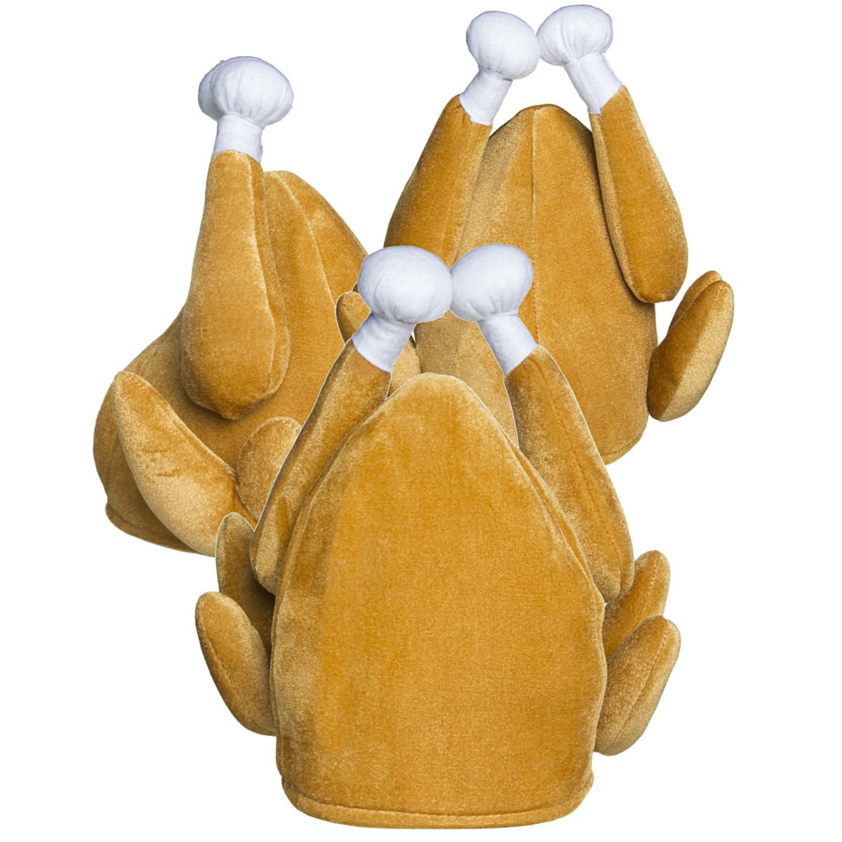 Forum Novelties 3 Turkey Hats Funny Thanksgiving Outfit Adult Halloween Costume Accessory Gift 65538