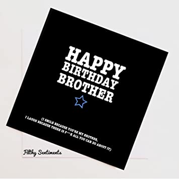 Rude Naughty Funny Greeting Cards Happy Birthday Brother Amazoncouk Office Products