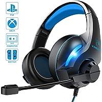 Cuffie da gioco per Xbox One, cancellazione del rumore, con luce LED e microfono flessibile, controllo del volume, per PS4, PC, Xbox One, laptop, tablet, Mac Smart Phone