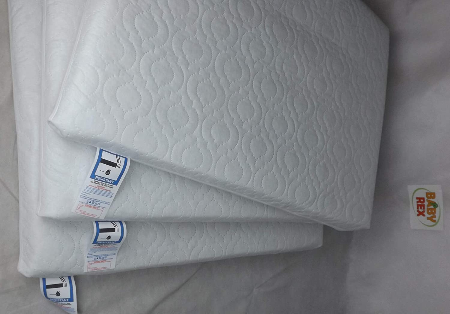 Baby Travel Cot Mattress 93 x 66 x 6 cm Quilted fits Most Graco//M/&P Cots Breathable Antiallergenic//BABY REX/®