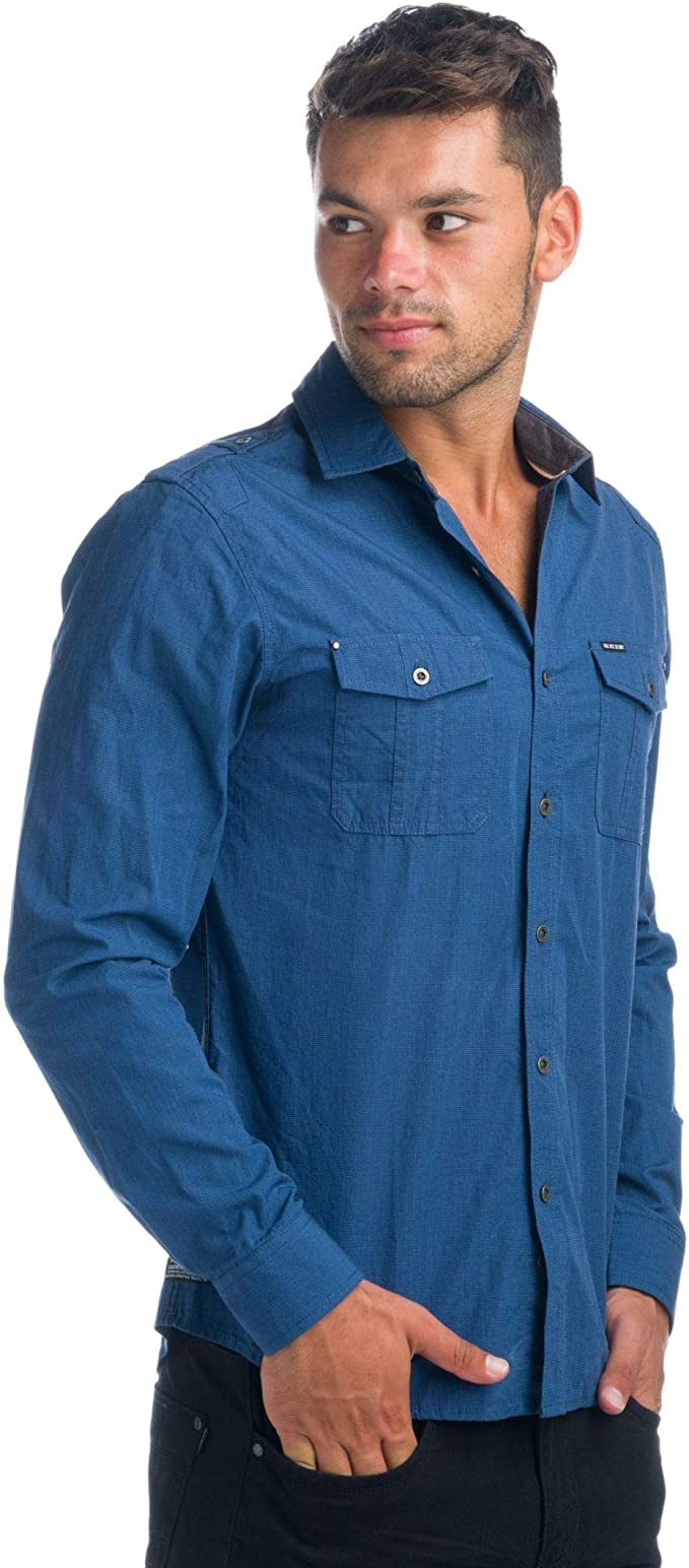 Koroshi Camisa Efecto Mini Pata DE Gallo: Amazon.es: Ropa y ...
