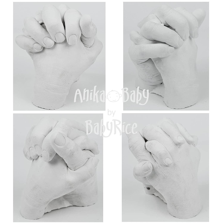 Casting & Printing Kits BabyRice Adult Hands Casting Kit Holding