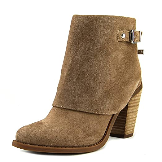 Womens Caralyne Leather Closed Toe Ankle Fashion Boots