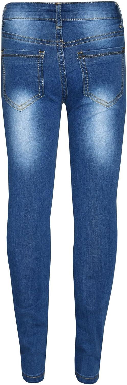 A2Z 4 Kids/® Kinder M/ädchen D/ünn Jeans Designer Denim Zerrissen Girls Jeans M617 Mid Blue 13