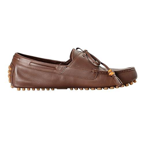 f5e35ab92c1 Amazon.com  Gucci Men s Brown Leather Moccasins Slip On Driving Shoes Sz US  11.5 IT 9.5 EU 44.5  Shoes