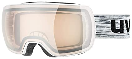 a06af4007335 Uvex Compact VLM Ski Goggle 2019 - White Matte Frame with Silver Clear Lens