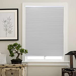 Matinss Cellular Shades Cordless Window Blinds Honeycomb Shades for Home and Windows Bedroom, Blackout Shades, White, 28x38