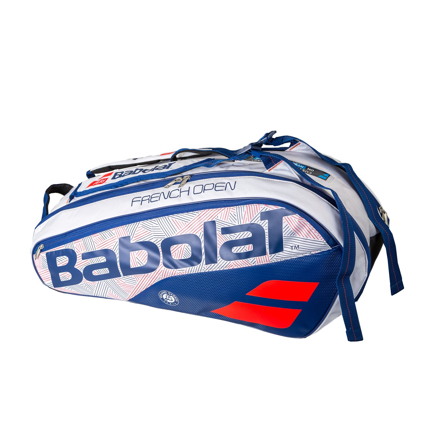 Babolat Pure French Open 6 Pack Tennis Bag White and Blue-(B751165-203)