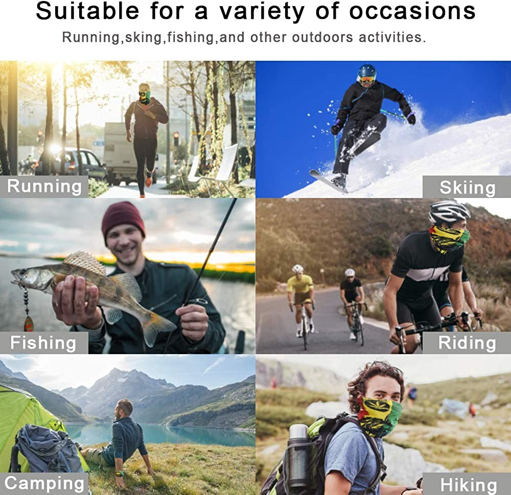 Strobody Multifunctional Headbands Neck Gaiter Breathable Headwear Face Mask