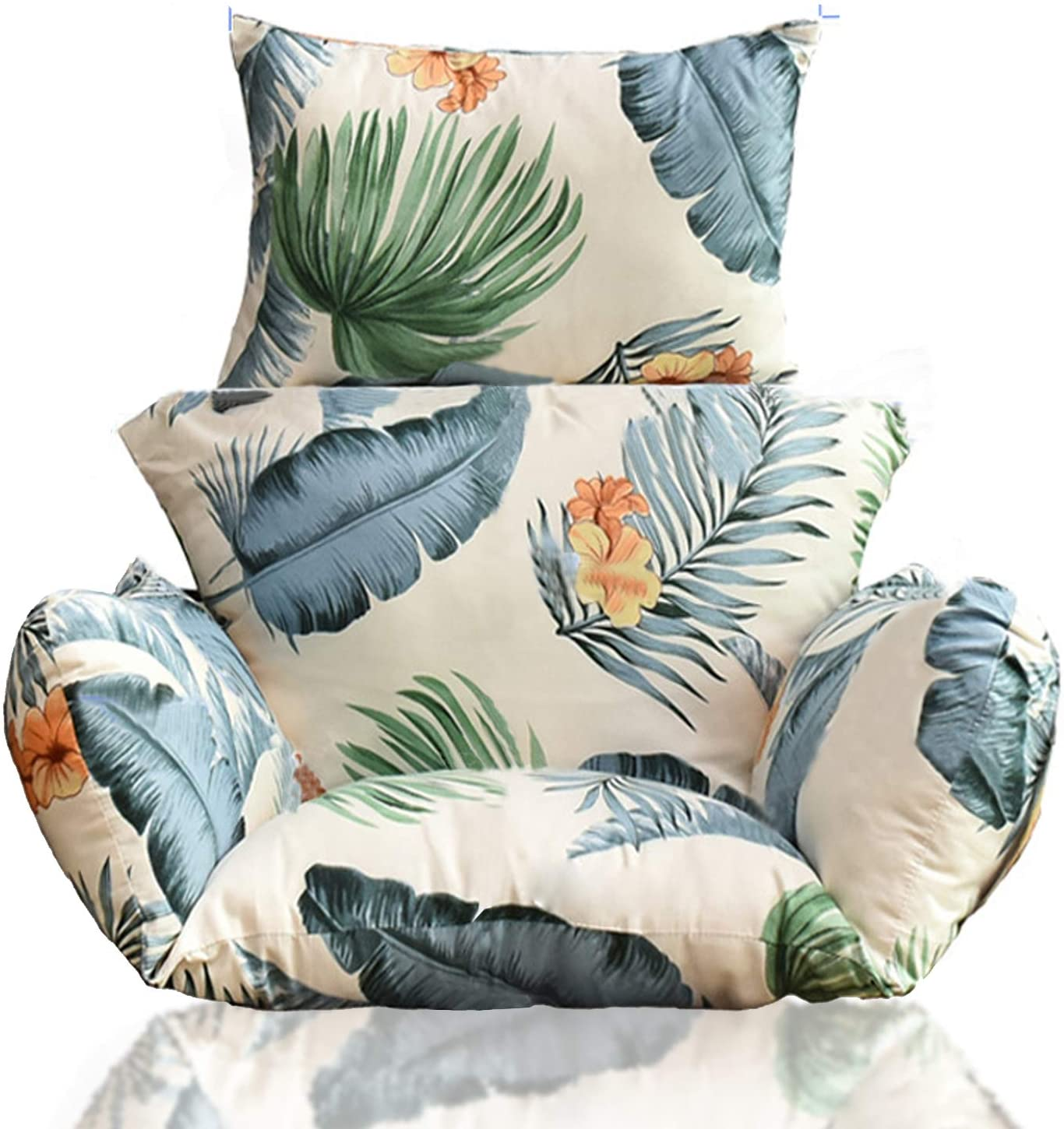 Hanging Chair Cushion, Cushions for Hanging Egg Chair,Washable Swing Chair Cushion, Thicken Patio Hanging Egg Chair Pad, Garden Hanging Basket Chair Seat (Only Cushion)(Hawaiian Style)