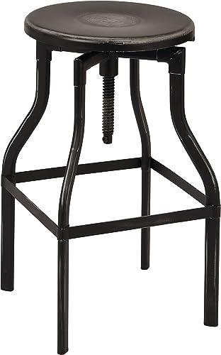 OSP Designs East Vale 30 Metal Barstool, Antique Black