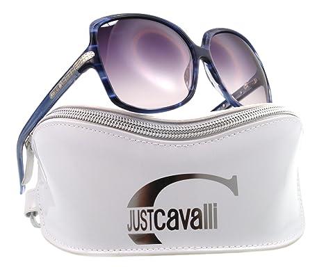Amazon.com: Just Cavalli anteojos de sol JC 327/S Azul 92 W ...