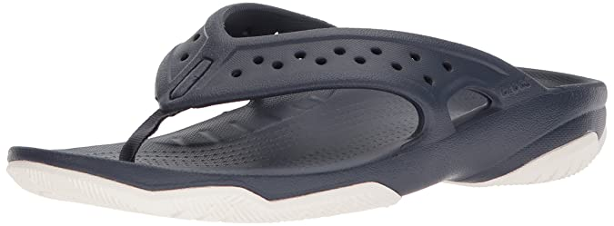 crocs Swiftwater Deck Flip Men, Herren Zehentrenner, Braun (Khaki/Stucco), 42/43 EU