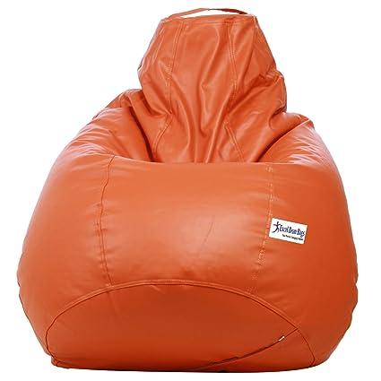 Phenomenal Sattva Classic Xxl Bean Bag Cover Orange Colour Ibusinesslaw Wood Chair Design Ideas Ibusinesslaworg