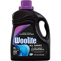 Woolite All Darks Liquid Laundry Detergent, 66 Loads, 100 Fl Oz, Dark & Black Clothes & Jeans, Regular & HE Washers, midnight breeze scent, packaging may vary