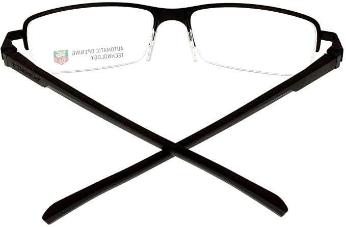 58d9091c54a90 Amazon.com  Tag Heuer Eyeglasses Frame Unisex Brown Automatic TH0824 003  Semi- Rimless  Clothing