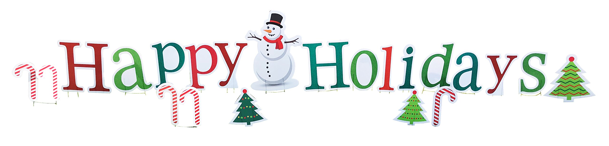 Happy Holidays - Advanced Graphics Outdoor Life Size Standup Yard Sign - For Outdoor Use by Advanced Graphics