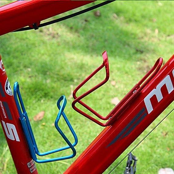 Soporte de Botella de Agua de Bicicleta de aleaci/ón de Aluminio Jaula MTB Bicicleta Bebida Botellas Montaje Kaemma
