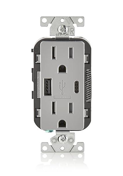 Amazon.com: Leviton T5633-BW 15A 125V Decora - Receptor ...