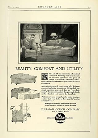 1923 Ad Pullman Couch Co Chicago Illinois Living Room Furniture Sofa Bed  Decor   Original Print