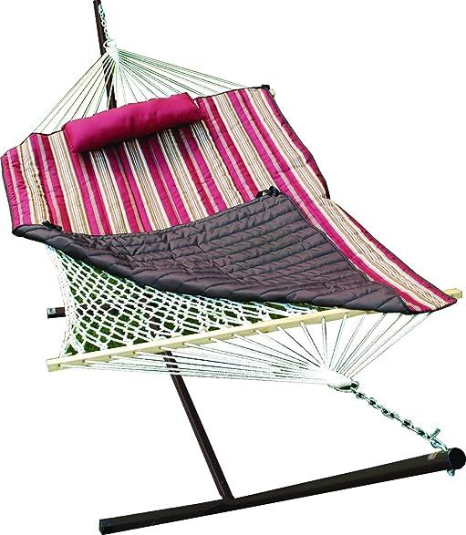 algoma    pany 8912 natural cotton rope hammock with stand 52 x 76 u0026quot  amazon     algoma    pany 8912 natural cotton rope hammock      rh   amazon