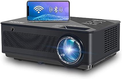 Proyector, FANGOR 7500 Lúmenes Full HD WiFi Proyector 1080P Nativo Vídeoproyector 4K Corrección Tropezoidal Cine en Casa Proyector Bluetooth 65000 Horas, Compatible con HDMI/USB/SD/VGA/AV/TV Box: Amazon.es: Electrónica