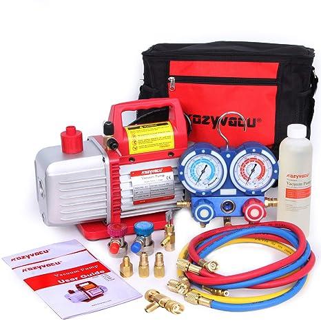 Amazon.com: Kozyvacu AUTO AC Kit completo de herramientas de ...