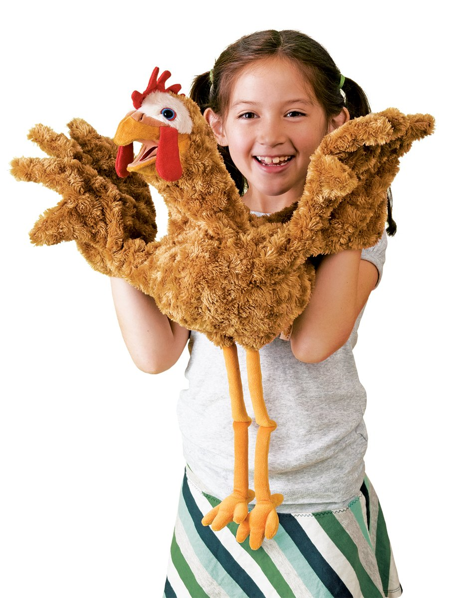 Folkmanis Chicken Two-Handed Puppet