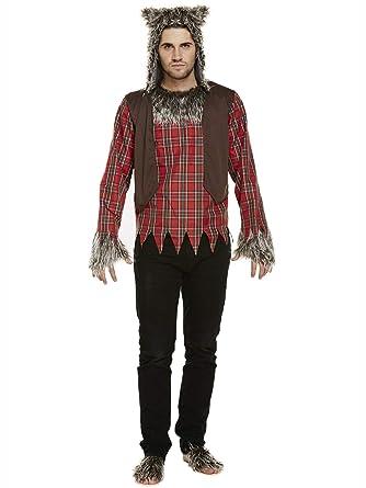 PERFECT PATCHES Disfraz de Lobo de Halloween para Hombre Negro ...