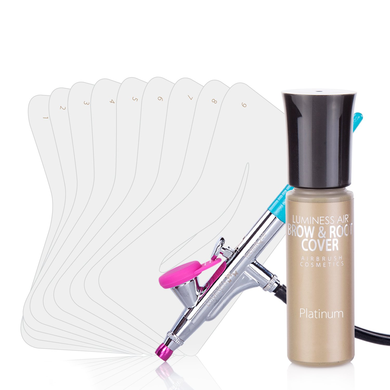 Luminess Air Airbrush Brow and Root Cover Kit, Platinum