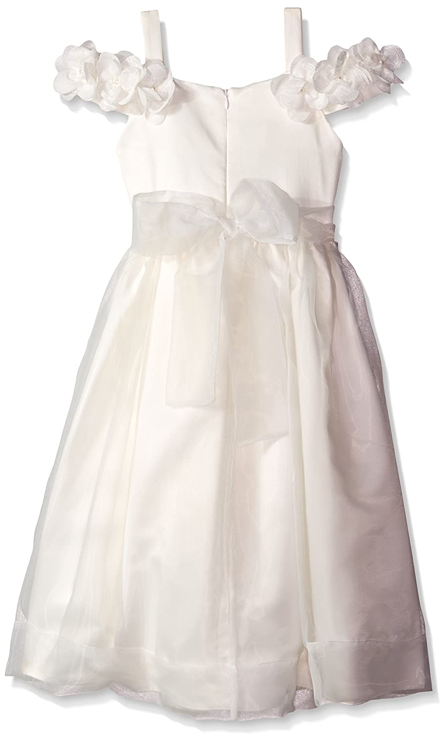 8be1d78ece Amazon.com  Kleinfeld Pink Little Girls  Nicole Flower Girl Organza Dress  with Trim and Back Tie
