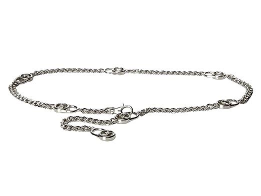 Michael Kors Mk Logo Hamilton Lock Silver Chain Belt S M S M At
